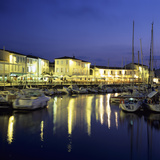 The Harbour with Restaurants at Dusk, St. Martin, Ile de Re, Poitou-Charentes, France, Europe Photographic Print by Stuart Black