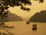 Tour Boats Cruising on Lake, Lake Periyar, Kerala, India, Asia Photographic Print by Stuart Black