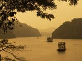 Tour Boats Cruising on Lake, Lake Periyar, Kerala, India, Asia Photographic Print by Stuart Black
