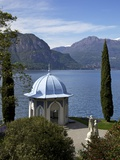 Moorish Style Classical Temple, Gardens of Villa Melzi, Bellagio, Lake Como, Lombardy, Italy Photographic Print by Peter Barritt