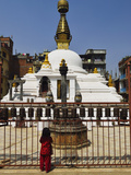 Stupa at Patan, UNESCO World Heritage Site, Bagmati, Central Region (Madhyamanchal), Nepal, Asia Photographic Print by Jochen Schlenker