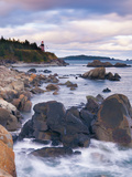 West Quoddy Lighthouse, Lubec, Maine, New England, United States of America, North America Photographic Print by Alan Copson