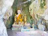 Large Buddha at Tham Sang Caves, Vang Vieng, Laos, Indochina, Southeast Asia, Asia Photographic Print by Matthew Williams-Ellis