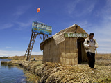 Entrance to Islas Flotantes (Floating Islands), Lake Titicaca, Peru, South America Photographic Print by Simon Montgomery