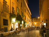 People Dining at Outside Restaurant, Rome, Lazio, Italy, Europe Photographic Print by Angelo Cavalli