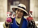 Woman Selling Hand-Made Dolls in Arequipa Plaza de Armas, Arequipa, Peru, South America Photographic Print by Ian Egner