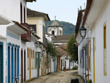 Typical Colonial Houses in the Historic Part of Parati, Rio de Janeiro State, Brazil, South America Photographic Print by Yadid Levy