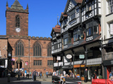 Bridge Street Restaurants, Chester, Cheshire, England, United Kingdom, Europe Photographic Print by Rolf Richardson