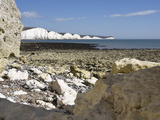 Coastline at Seven Sisters, Hope Cove, Near Seaford, East Sussex, England, United Kingdom, Europe Photographic Print by Jean Brooks