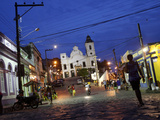 Street Scene at Night, Olinda, Pernambuco, Brazil, South America Photographic Print by Yadid Levy
