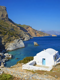 Beach and Church, Agia Anna, Amorgos, Cyclades, Aegean, Greek Islands, Greece, Europe Photographic Print by  Tuul