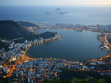 View of Lagoa Rodrigo de Freitas Lake, Rio de Janeiro, Brazil, South America Photographic Print by Yadid Levy