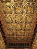 The Throne Room, Caisson Ceiling, Typical Decor, Aljaferia Palace, Saragossa (Zaragoza), Spain Photographic Print by Guy Thouvenin