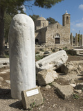 St. Paul's Pillar and Agia Kyriaki, Paphos, UNESCO World Heritage Site, Cyprus, Europe Photographic Print by Stuart Black