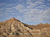 Badlands with Clouds, Badlands National Park, South Dakota, United States of America, North America Photographic Print by James Hager