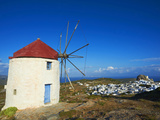 Windmill, Chora, Amorgos, Cyclades, Aegean, Greek Islands, Greece, Europe Photographic Print by  Tuul