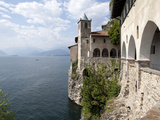 Hermitage of Santa Caterina del Sasso, Lake Maggiore, Lombardy, Italian Lakes, Italy, Europe Fotografisk tryk af Oliviero Olivieri