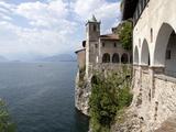 Hermitage of Santa Caterina del Sasso, Lake Maggiore, Lombardy, Italian Lakes, Italy, Europe Photographic Print by Oliviero Olivieri
