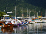 Colorful Fishing Boats in the Harbour, Parati, Rio de Janeiro State, Brazil, South America Photographic Print by Yadid Levy