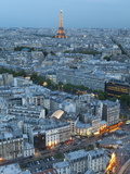City and Eiffel Tower, Viewed over Rooftops, Paris, France, Europe Photographic Print by Gavin Hellier