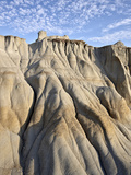 Badlands with Clouds, Theodore Roosevelt National Park, North Dakota, USA, North America Photographic Print by James Hager