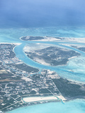 Aerial View of Providenciales, Turks and Caicos Islands, West Indies, Caribbean, Central America Photographic Print by Kim Walker