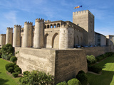 Fortified Walls and Towers of Aljaferia Palace from 11th Century, Saragossa (Zaragoza), Spain Photographic Print by Guy Thouvenin