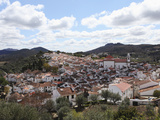 The Tile Roofs of Houses in the Walled City of Castelo de Vide, Alentejo, Portugal Photographic Print by Stuart Forster