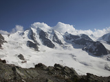 Piz Palu, in the Bernina Region, Swiss Alps, Switzerland, Europe Photographic Print by Angelo Cavalli