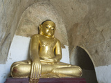 Seated Buddha, Gawdawpalin Pahto, Bagan (Pagan), Myanmar (Burma), Asia Photographic Print by Richard Maschmeyer