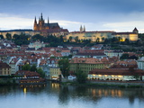 St Vitus Cathedral, River Vltava, UNESCO World Heritage Site, Prague, Czech Republic Photographic Print by Gavin Hellier