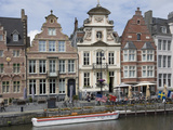 Baroque Style Flemish Architecture Along the Graslei, Ghent, Belgium, Europe Photographic Print by James Emmerson