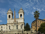 The Church of Trinita Dei Monti, Rome, Lazio, Italy, Europe Photographic Print by Angelo Cavalli