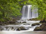 Billy Stock - Sgwd yr Eira Waterfall, Brecon Beacons, Wales, United Kingdom, Europe Fotografická reprodukce
