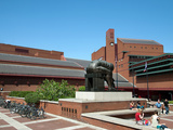Courtyard of British Library Showing Isaac Newton Sculpture by Eduardo Paolozzi, London, England Photographic Print by Adina Tovy