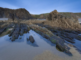 Rocky Pool on Sandymouth Bay Beach, Cornwall, England, United Kingdom, Europe Photographic Print by Ian Egner