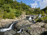 Waterfalls of Ciu on the East Coast of Grande Terre, New Caledonia, Melanesia, South Pacific Photographic Print by Michael Runkel