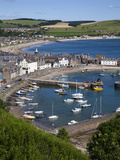 Stonehaven Harbour and Bay from Harbour View, Stonehaven, Aberdeenshire, Scotland, UK, Europe Photographic Print by Mark Sunderland