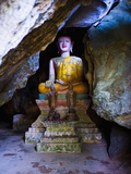 Buddha Hidden in the Tham Sang Caves, Vang Vieng, Laos, Indochina, Southeast Asia, Asia Photographic Print by Matthew Williams-Ellis