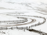 Snow on Winding Road in Edale, Peak District National Park, Derbyshire, England, UK, Europe Photographic Print by Ian Egner