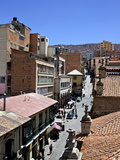 A High View of a Street in La Paz, Bolivia, South America Photographic Print by Simon Montgomery