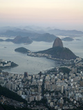 View of the Pao de Acucar (Sugar Loaf Mountain) and the Bay of Botafogo, Rio de Janeiro, Brazil Photographic Print by Yadid Levy