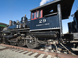 Old Steam Locomotive at Historic Gold Hill Train Station, Outside Virginia City, Nevada, USA Photographic Print by Michael DeFreitas