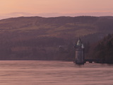 Gothic Style Water Straining Tower at Dusk on Lake Vyrnwy, Powys, Wales, United Kingdom, Europe Photographic Print by Ian Egner