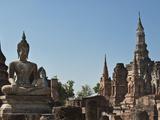 Wat Mahathat, Old Buddhist Temple, Sukhothai, UNESCO World Heritage Site, Thailand, Southeast Asia Photographic Print by Antonio Busiello