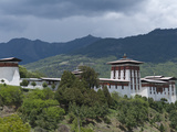 View of the Dzong in Bumthang, Bhutan, Asia Photographic Print by Eitan Simanor