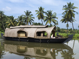 Houseboat Along the Backwaters, Near Alappuzha (Alleppey), Kerala, India, Asia Photographic Print by Stuart Black