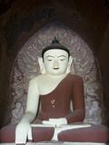 Seated Buddha, Dhammayangyi Pahto, Bagan (Pagan), Myanmar (Burma), Asia Photographic Print by Richard Maschmeyer