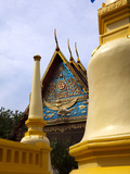 Golden Chedi at Wat Mongkhon Nimit, Phuket Old Town, Phuket, Thailand, Southeast Asia, Asia Photographic Print by Lynn Gail