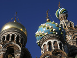 Onion Domes, Church of Saviour on Spilled Blood, UNESCO World Heritage Site, St. Petersburg, Russia Photographic Print by  Godong